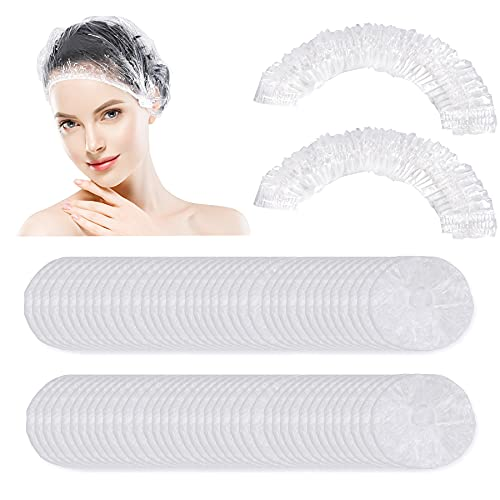 150 PCS Upgrade Disposable Shower Caps. Ceizioes Waterproof Larger Hair Bath Caps. Thickening Shower Cap for Women Kids Girls. Hotel and Hair Salon. Travel Spa. Home Use Beauty Salon
