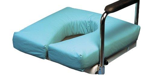 Patterson Medical Sitzpolster für Toilettenstühle, mit Ausschnitt Hufeisenform, Faserfüllung