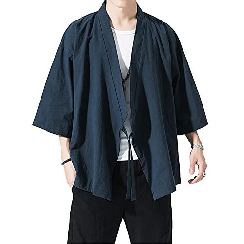 カーディガン 和式 パーカー メンズ 開襟シャツ 大きいサイズ 夏服 和式パーカー 夏 七分袖 長袖 羽織 ジャケット 春夏 通気 大きいサイズ 日焼け止め