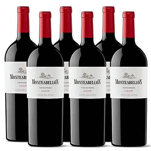 Vino Tinto Monteabellon Roble de 75 cl - D.O. Ribera del Duero - Bodegas Monteabellon (Pack de 6 botellas)