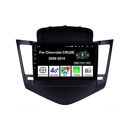 Android 10 Car Stereo 9 Pulgadas Pantalla Táctil Navegación Gps Para Chevrolet CRUZE 2009-2014 Con Pantalla Coche Conecta Y Reproduce Bluetooth Multimedia FM/Am/RDS Video SWC