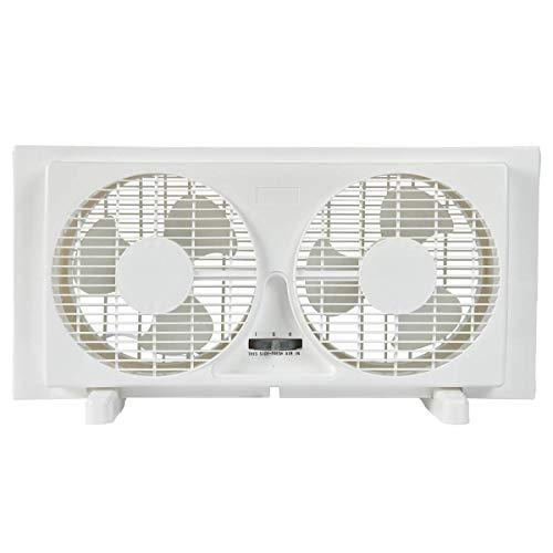 "BEYOND BREEZE 9"" Twin Window Fan 2-Speed Reversible Airflow Blades, Expandable, Manual Controls (Min. 22.4"" Max. 34.3"")"