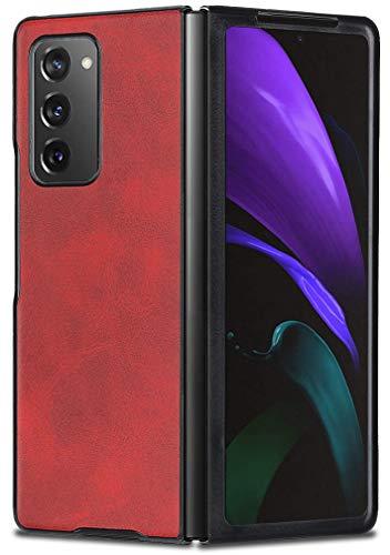MOONCASE Hülle für Galaxy Z Fold 2 5G, Superdünn Stoßfeste Lederhülle Schutzhülle Hardcover HandyHülle für Samsung Galaxy Z Fold 2 5G 7.6