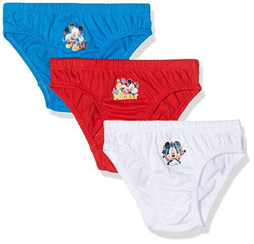 Original von Disney Original von Disney Kinder Unterhose Slips Mickey Mouse 3er Set 80-110 Höschen (2-3J.)