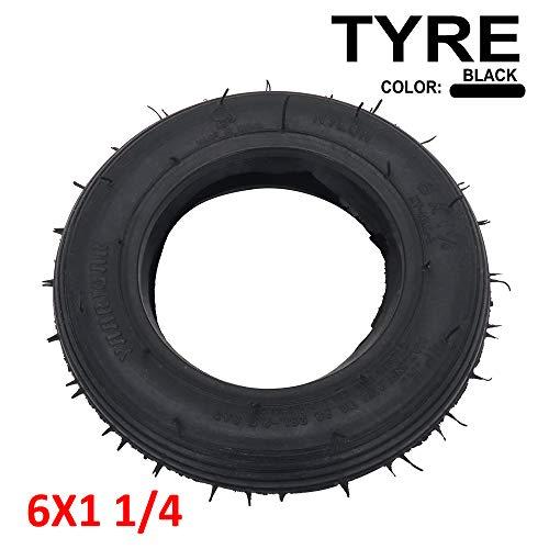 YSMOTO 6 x 1 1/4 Tubeless Vakuum-Reifen für Elektro- und Gas-Scooter 15,2 cm A-Folding Bike