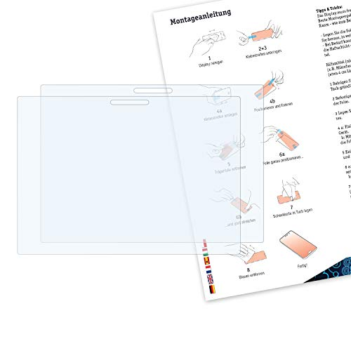 Bruni Schutzfolie kompatibel mit Lenovo Miix 630 Folie, glasklare Displayschutzfolie (2X)