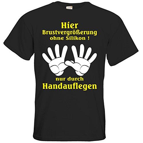 getshirts - Rahmenlos® Geschenke - T-Shirt - Fun - Brustvergrößerung durch Handauflegen - Black 5XL