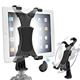Yoassi Tripod Mount for iPad with Remote, Upgraded Universal Heavy Duty 360°Rotatable Anti-Wobble iPad Tripod Holder,iPad Tripod Adapter Fits iPad12345678 Mini1234 Air1234 Pro1234 9.7 10.5 11 12.9'