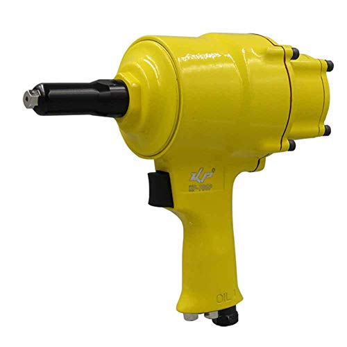 TMIL Herramienta Neumática De Pistola De Impacto De Remachadora Neumática con Botella De Clavos, Pistola De Remaches, Diseño De Doble Cilindro, para Chapa De Acero De Aluminio