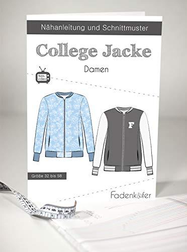 Fadenkäfer Papierschnittmuster College Jacke Damen