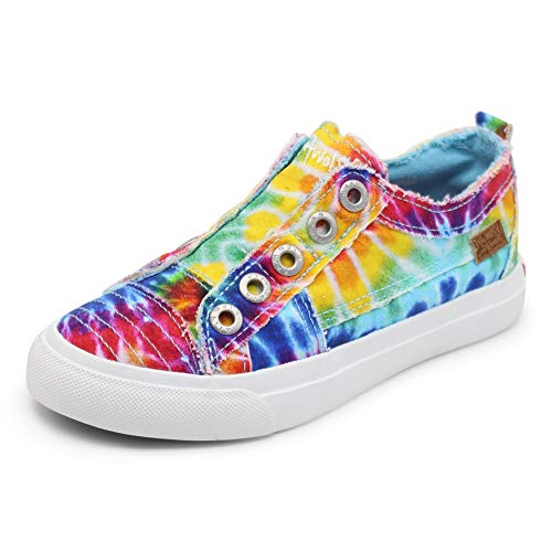 Blowfish Malibu Kids Girls Play-k Sneaker, Rainbow tie dye, 4 Big Kid