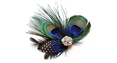 Foopp Filles Lovely Plume de Paon Pince à Cheveux