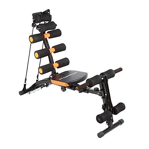 Physioroom 12 in 1 Ganzkörper Heimtrainer zum Muskelaufbau mit Drehsitz, Rudergerät, Bauchtrainer Kraft & Cardio - trainiert, stärkt, definiert Muskulatur, Kern, Arme, Beine, Bauch & Rücken - Faltbar