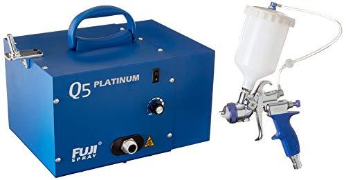 Fuji Industrial Spray Equipment PLATINUM-T75G Fuji 2895-T75G Q5 Platinum Quiet HVLP Spray System , Blue
