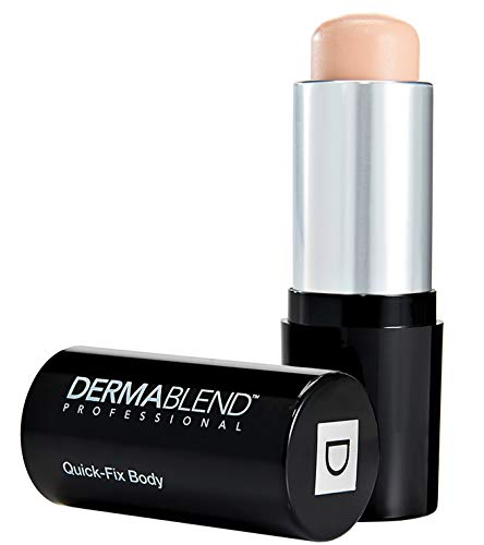 Dermablend Professional Quick-Fix Body - Full Coverage Foundation Makeup Stick - Covers Tattoos, Birthmarks, Blemishes - Dermatologist-Created, Fragrance-Free, Allergy-Tested - 0C Linen, 0.42 oz.
