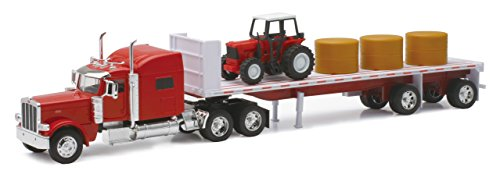 New Ray - Camión 1/32 Peterbilt 389 con Tractor y heno Colección a E