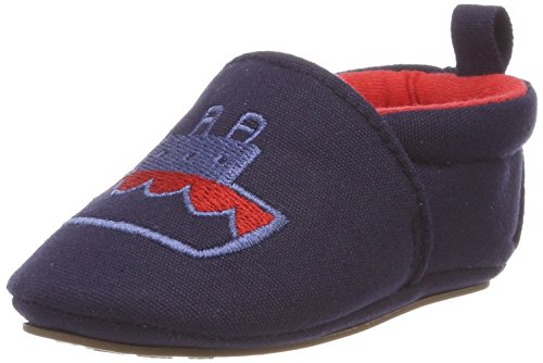 Sterntaler Baby-Schuh mit rutschfesten Sohlen für Jungen, Alter: 6-9 Monate, Größe: 18, Farbe: Blau (Marine), Art.-Nr.: 2301855