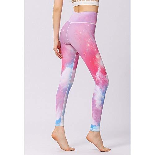 Jejhmy High-elastische sportkleding roze galaxy Stijlvol en comfortabel, Hoge taille Leggings Yoga Broek vrouwen hardloopbroek Sport Leggings, vrouwen Yoga Broek