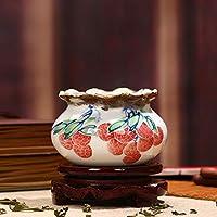 小さなセラミックの庭の花瓶、灰皿の手工芸品、リビングルームの家の装飾、中国のポーチの装飾