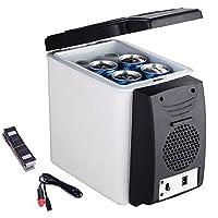 DC熱電クールボックス、容量:カーキャンプ、旅行、ピクニック、ホワイト用の6Lポータブルトラベル冷蔵庫クーラーボックス12V