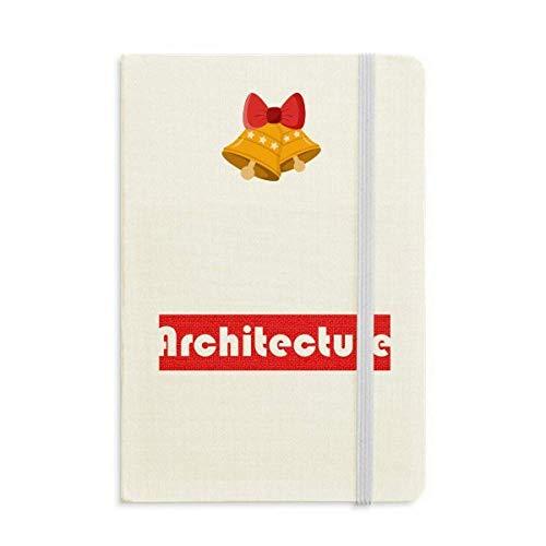 Corso E Major Architettura Rosso Notebook Journal mas Jingling Bell