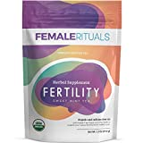 Female Rituals Fertility Tea – Natural Peppermint Tea Fertility Supplements for Women – Organic Tea with Chaste Berry, Nettle, Passion Flower & More – Sweet Mint Flavor – Makes 30 Cups (15 Sachets)