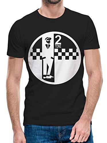 Python Clothing Męska 2-tonowa etykieta Ska Reggae Music Iconic Top Prezent urodzinowy Mały do 5XL