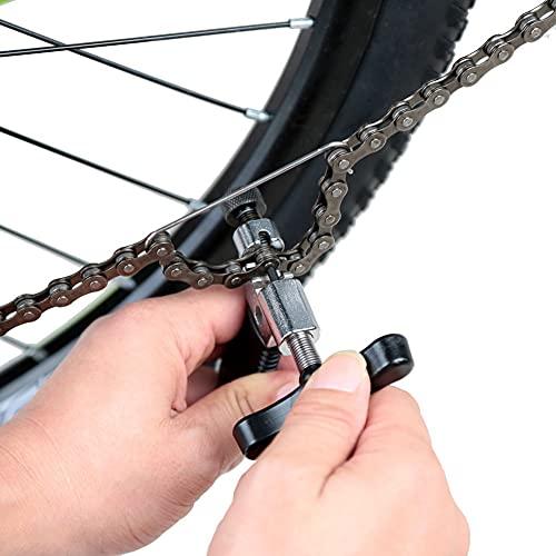 QINGCHU Herramienta para quitar cadenas de bicicleta, universal, con gancho para cadena de bicicleta de 7, 8, 9 y 10 velocidades.