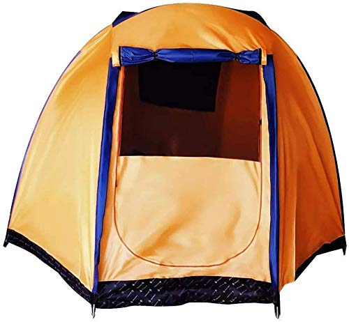 SAIYI Outdoor Tent Oversized Outdoor 5-6 People Tent Family Tent Waterproof Double Layer Canopy Sunshade Camping Orange Color Beach Tent