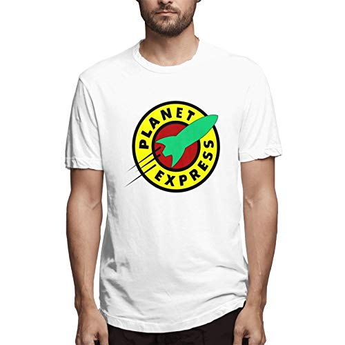 chenche Planet Express - Camiseta de manga corta para hombre - blanco - 6X-Large