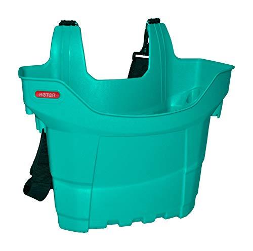 Keter Werkzeugtasche Werkzeugbox Leitertasche Gartengeräte Wäscheklammern Putzbox, Farbe:türkis