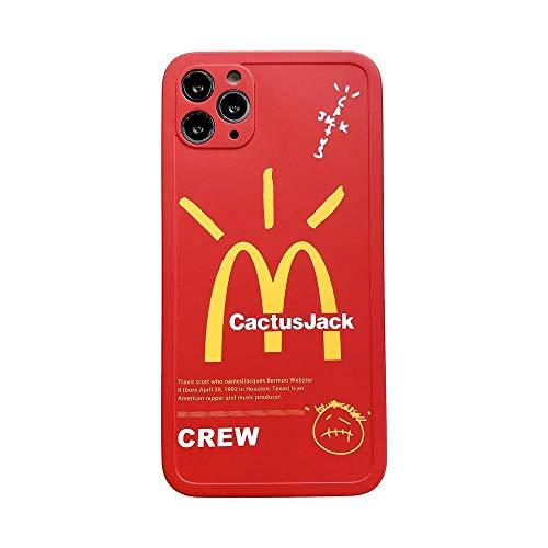HNZZ Tmrtcgy INS CACTUSJACK MCCUTE Crew TELEFONO DE TELÉFONO para iPhone 12 Mini 11 Pro X XR XS MAX 7 8 Plus Letras Lindas Etiqueta Cubierta DE SILICÓN Suave (Color : 2, Size : iPhone X XS)
