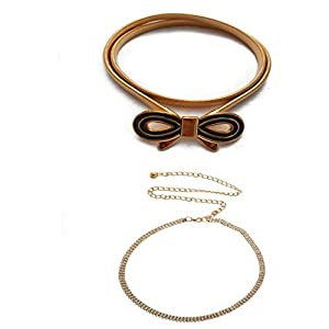 Vritraz Women And Girl Fashion Metal Stretchable Gold Plated Belly Chain Waist Belt Jewellery Gift kamarbnd Waistband