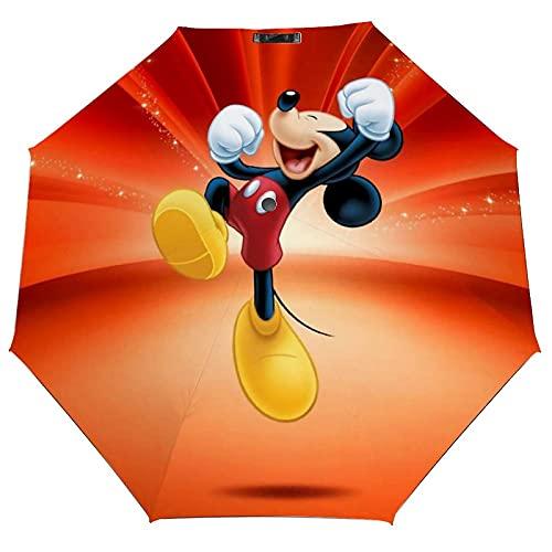 Regenschirm mit Micky-Maus-Motiv, modisches Design, automatisch, winddicht, faltbar, mit UV-Schutz, für Erwachsene und Kinder, leicht, für Sonne und Regen