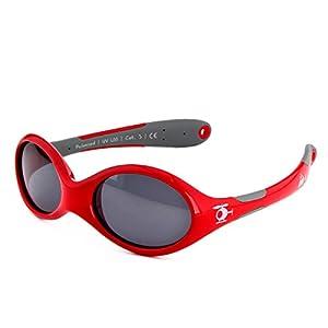 ActiveSol gafas de sol para BEBÉ   NIÑO   100% protección UV 400   polarizadas   irrompibles, de goma flexible   0-24 meses   18 gramos [Talla S - Helicóptero]