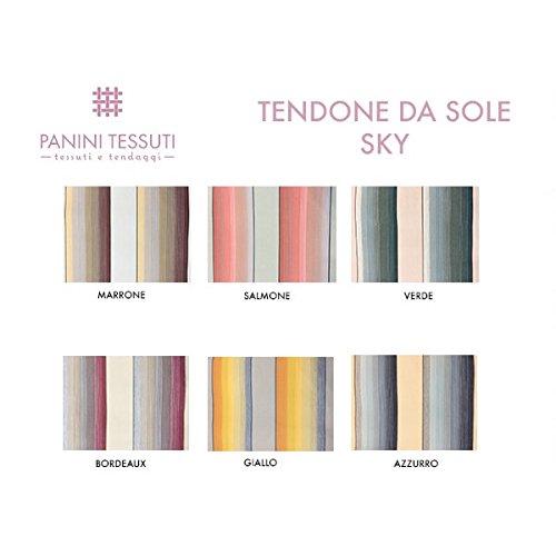 Cortina de Sol con flecos y anillas brevettati de acrílico dralon a cintas o rayas tamaños 140x 250cm–140x 300cm–Diferentes Variantes, azul