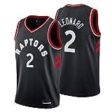 Lalagofe Camiseta Kawhi Leonard Toronto Raptors Negro,Camiseta Deportiva,Chaleco Transpirable de Secado rápido,Icon edición (Negro, L)