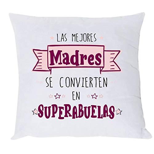 Misorpresa COJIN Mensaje Las Mejores Madres SE CONVIERTEN EN SUPERABUELAS Regalo Madre Regalo Abuela