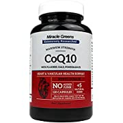 Powerful CoQ10 Complex - 300mg Max Strength, 120 Capsules   Boosted with Kale, Flaxseed, Garlic and More   High Absorption Naturally Fermented Co Enzyme Q10 for Heart Health and Energy   Made in UK