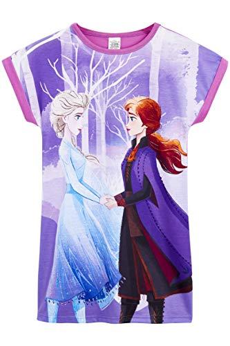 Disney Die Eiskönigin 2 Nachthemd Mädchen, Anna und ELSA Schlafanzug Mädchen, Bequemes Pyjama Rock für Kinder zwischen 3 und 12 Jahre, Original Frozen ELSA Kleid, Geburtstag Geschenk (7-8 Jahre)