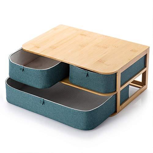 KUANDARGG Caja de almacenamiento de escritorio Caja de almacenamiento tipo cajón Cosméticos joyería caja creativa oficina pequeñas cosas almacenamiento