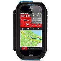 Runtastic RUNCAI1B Carcasa de Smartphone para Bicicleta, Color Negro, Unisex