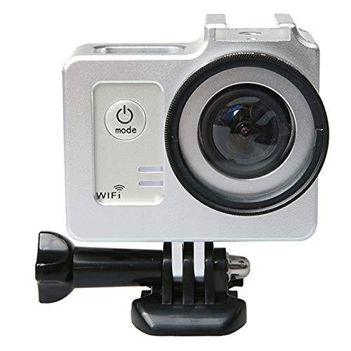 Cubierta de cámara Funda protectora de aleación de aluminio universal de LJR con tapa protectora de la lente y lente de la lente de 40,5 mm para SJCAM SJ5000 y SJ5000x & SJ5000 WiFi Sport Acción Cámar