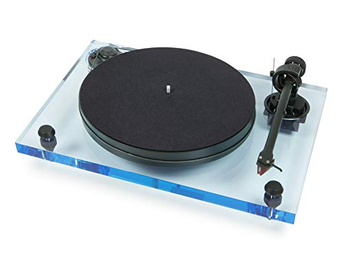 Pro-Ject 2-Xperience Primary Acryl, Audiophiler Plattenspieler mit Acrylchassis (Blau)