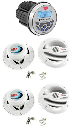 "Planet Audio PGR35B 3.5"" Gauge Marine MP3/Radio Receiver Bluetooth+4) Speakers"