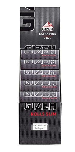 Gizeh Extra Fine Rolls Slim 5 Meter Endlospapers Blättchen auf Rollen 2 Boxen (20 Rolls)