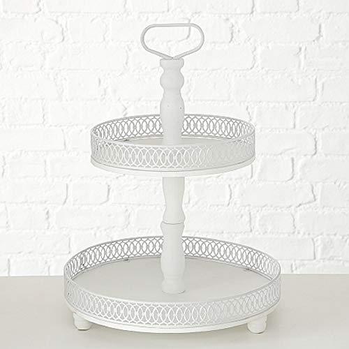 Home Collection Maison Cuisine Mobilier Accessoires Décoration Vaisselle Présentoirs à Gâteau de 2 Niveaux Fruit Finger Food H 48 cm