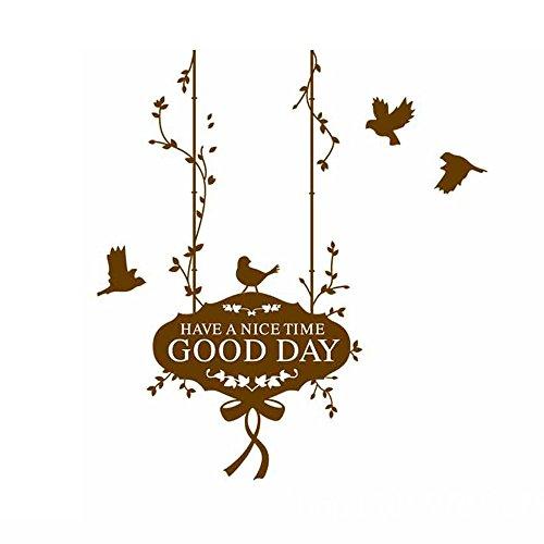 Winhappyhome Good Day Tag Autocollants pour Bedchamber Salle De Séjour Coffee Shop Background Amovible Décor Décalcomanies