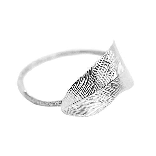 MIRRAY Mode Frauen Blatt Elastisches Haarband Stirnband Rockabilly Haarschmuck Sommer Silber