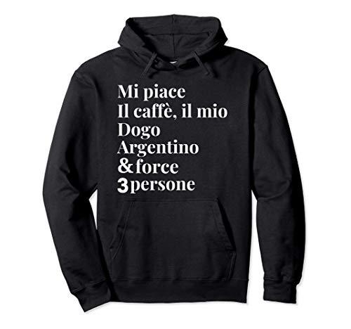 Dogo Argentino Cane Caffè Divertenti Regalo Barista Donna Felpa con Cappuccio